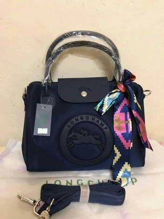 Longchamp,doctors bag with scarf
