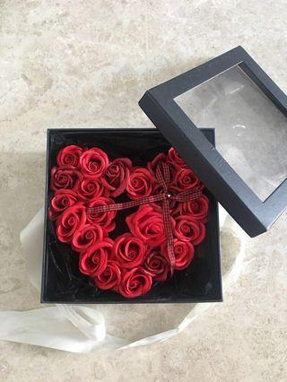 BN Heart Shape Red Roses Bouquet in a Giftbox