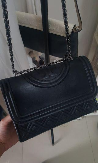 Original Tory Burch Fleming Convertible 21 Black