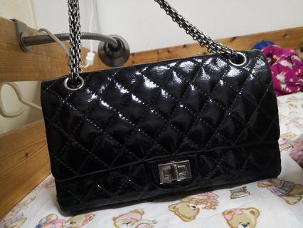 Chanel 2.55 Reissue Bag Black Patent Leather