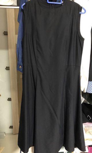 🚚 Uniqlo Rayon Black Dress