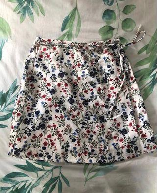 Floral Wrap Skirt (Something Borrowed)