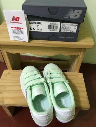 🚚 全新 NewBalance 210 湖水綠 帆布 板鞋 魔鬼氈 23.5cm