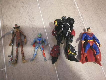 Marvel Legend Batman Superman Spwan 蝙蝠俠 超人 再生俠 無盒