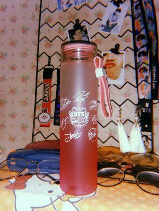 Bts Glass Bottle