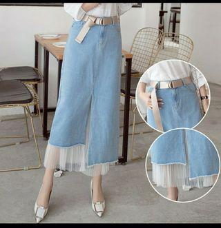 Korean Denim Cotton Skirt