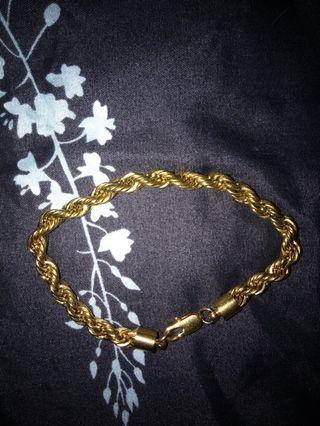 🚚 24K Gold Rope Bracelet