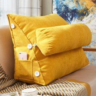 BN Back Rest Bed Triangle Cushion ( Yellow )