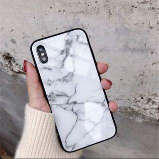 🚚 iPhone XS White Marble Phone Case
