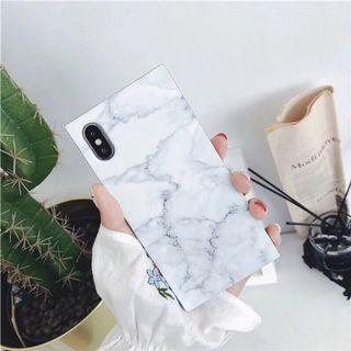 iPhone 7/8 marble casing in white