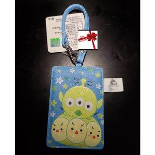 【現貨】Disney(三眼仔)閃亮塗鴉人造皮革卡套/行李牌/八達通套