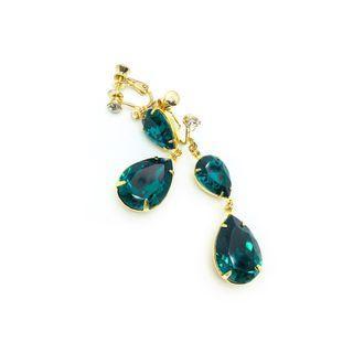 Clip-on Earrings in Swarovski Emerald