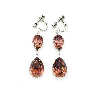 Clip-on Earrings in Swarovski Blush Pink