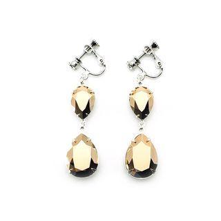 Clip-on Earrings in Swarovski Rose Gold