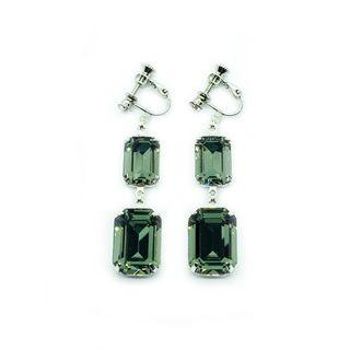 Clip-on Earrings in Swarovski Black Diamond