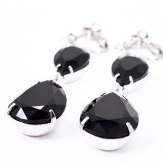 Clip-on Earrings in Swarovski Jet Black