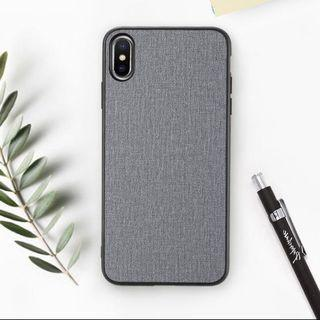 🚚 iPhone XS Fabric Cloth Woven Phone case in Gray