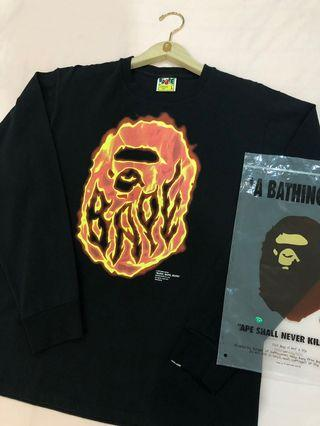 A bathing ape BURN long sleve