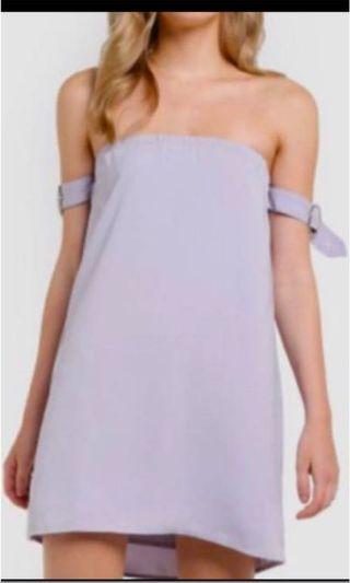 BNWT Something Borrowed off shoulder dress