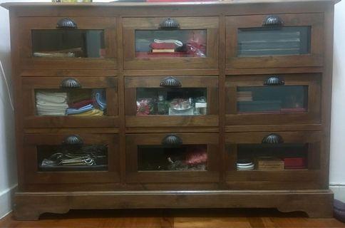 9 drawer antique unit