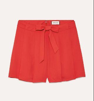 Aritzia 00 Sunday Best Red Shorts