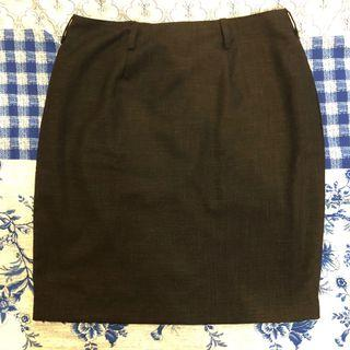 Fully Lined Black Pencil Cut Skirt