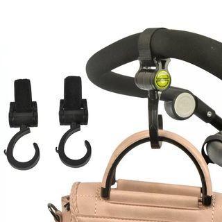 🚚 2pcs Velcro baby stroller hooks Multi purpose hooks hanger (Ready stock)