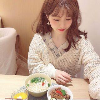 🚚 全新 日本 who who's chico 原單 鏤空兩穿甜美針織衫 罩衫 米白