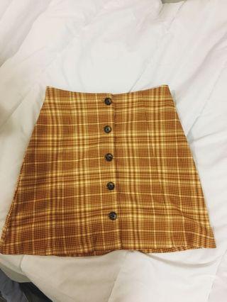 MONKI yellow skirt