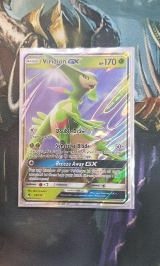 Virizion GX pokemon cards