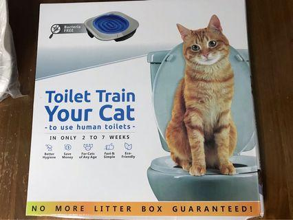 🚚 Toilet train kit for cat. No longer need cat litter / cat tray