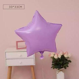 🚚 18-inch Macarons Purple Star Shape Foil Balloon