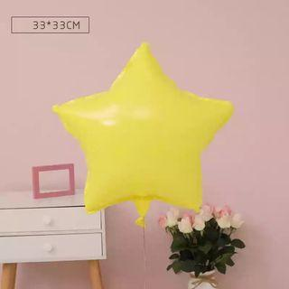 18-inch Macarons Yellow Star Shape Foil Balloon