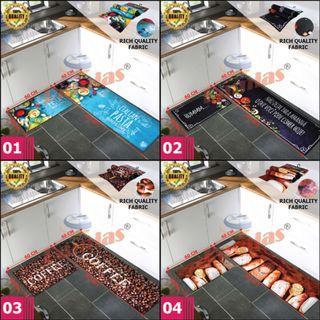 Kitchen Runner Anti Slip Ru Karpet Dapur 3D (SET 2in1)