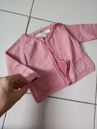 Pink Jacket (Zara Knitwear)