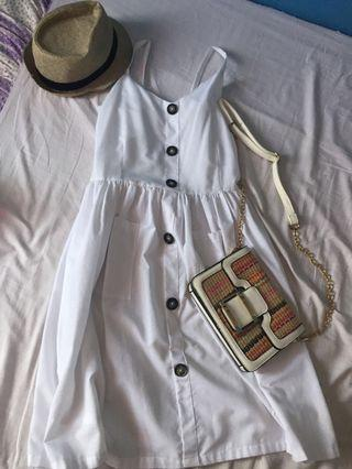BRAND NEW! White Midi Dress