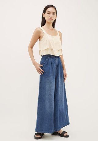 TEM NEVATA WIDE-LEG DENIM PANTS
