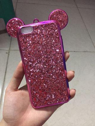 Iphone 6/6s mickey glitter case