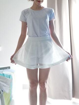 White Laces Skirt X Shorts