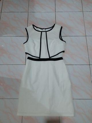 Work Dress -white
