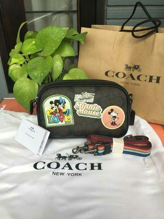 Coach x Disney Minnie Patches With Rainbow Strap