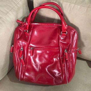 CK - Red Patent Leather Large Bag