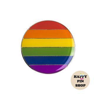 Pride Hard Enamel Round Pin Badge (LGBT, Pride Flag, Rainbow Flag, Pride Month)