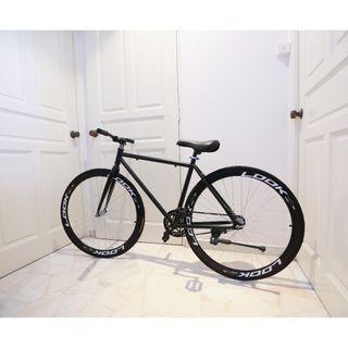 "*Ready Stocks* New 26"" Black Frame & Black Rim Fixie With Black Tyre Coaster Brakes New Bicycle"