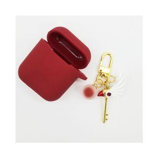 百變小櫻Airpods保護套 Cardcaptor Sakura 封印之杖 耳機保護套 硅膠保護套 藍芽耳機套 airpods case 封印之杖掛飾 百變小櫻鎖匙扣