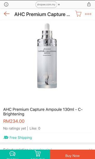 AHC Premium Capture C Brightening Ampoule 130ml ( Limited Edition )