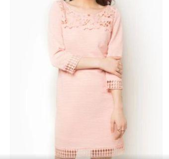 Nichi Pink Floral Embroidery