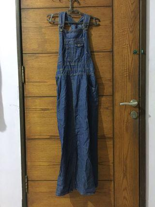 Overall Hijabable Jumpsuit Jeans
