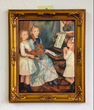 Italian Silk Painting THE DAUGHTERS OF CATULLE MENDES