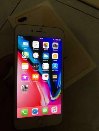 Iphone 8 Plus 64GB Gold fullset mulus